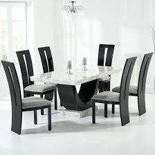 black dining room furniture sets. Dining Table Set Raphael Cream And Black Pedestal Marble With Chairs Sets Oak Room Furniture T