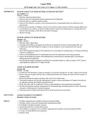 Research Resume Samples Research Resume Examples