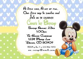 baby mickey mouse invitations birthday printable pdf mickey mouse birthday 1st birthday invitation by a
