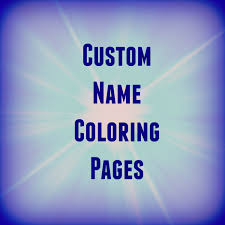 create your own coloring pages with name free coloring book