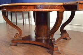 lh 21 round perimeter leaf round dining table