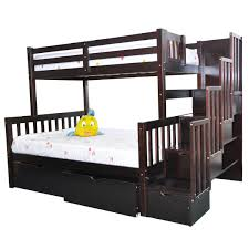 twin bunk beds for adults. Plain For Staircase Twin Over Full Bunk Bed Espresso Intended Beds For Adults B