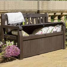 eden plastic storage bench möbelideen