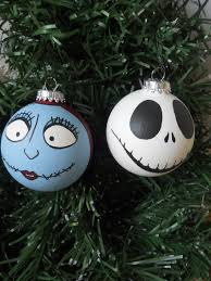 You can make your own Nightmare Before Christmas baubles. So, paint all  your favorite characters from the movie on these ornaments.
