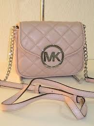 Michael Kors Blossom Pink Small Fulton Quilted Leather Crossbody ... & Michael Kors Blossom Pink Small Fulton Quilted Leather Crossbody Bag - $178 Adamdwight.com
