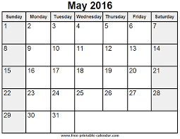 calendar for the month of may printable may 2016 calendar ideas for the house pinterest