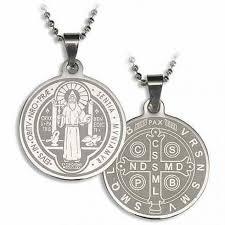 saint benedict laser engraved pendant pack of 12 tc449