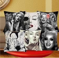 <b>1 Pcs</b> 43*43cm Sexy <b>Marilyn Monroe</b> Cushions Linen Cushion ...