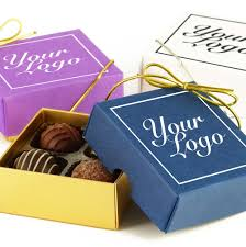 bespoke branded promotional 4 choc your logo small personalised chocolate gift box group