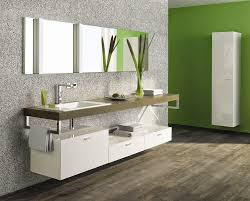 modern bathroom vanity ideas. Thin White Wall Mounted Modern Bathroom Cabinet On Green Painted And Single Sink Vanity Under Large Frameless Mirror Ideas