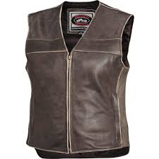 river road drifter women s leather vest