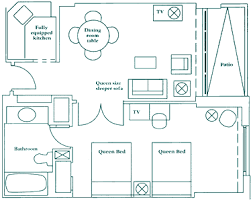 Doubletree Gallery One Suite Floorplan For 1 Bed Queen Beds. 2 Bedroom Suite