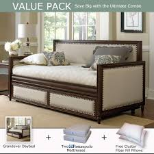 upholstered day bed. Modren Upholstered Grandover Daybed Trundle Sealy Mattress Value Pack By Humble Abode With Upholstered Day Bed L