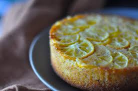 Giving Up Gluten Lemon Polenta Cake With Brown Butter & Walnuts