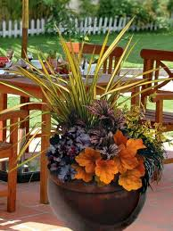 Fall Color Container Planting Idea  Fall Containers Petunias And Container Garden Ideas For Fall