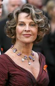 curly hair style for older women
