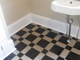 Charming Vct Tile For Floor Decoration Ideas: Charming Bathroom Floor  Decoration With Black And White