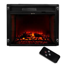 23 electric fireplace heater insert flat glass panel with remote black com
