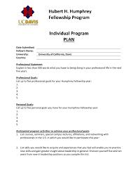 Professional Goals List Individual Program Plan Ipp Hubert H Humphrey Fellowship