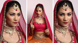 indian bridal makeup day look minimal makeup video of the month you