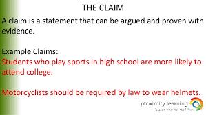 argumentative essay 4 the claim
