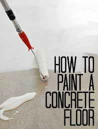 painting a cement floorHow To Paint Concrete UPDATED Plus My Secret Cleaning Tip