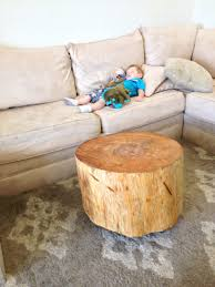 small tree trunk coffee table