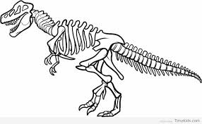 Realistic Dinosaur Bones Coloring Pages Coloring In 2019