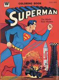 The original logo was created by joe shuster and first appeared in dc comics action comics #1 in june. Superman Coloring Book Sc 1965 1980 Whitman Comic Books