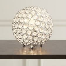 crystal table lamps globe