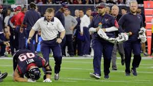 Starting quarterback alex smith suffered two broken bones in his leg, with many comparing it to the gruesome injury that ended the career of former redskins quarterback joe theismann. Jj Watt The Goat