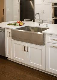 transitional kitchen ideas. stainless steel was carried throughout this transitional kitchen in lafayette hill, pa, including the apron front sink featured island. ideas