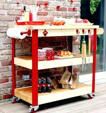 serving carts on wheels patio