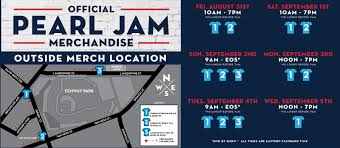 Fenway Park Pearl Jam 2018 Seating Chart Pearl Jam Official Fenway Merch Info