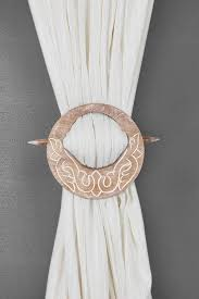 com indya decorative wooden curtain tiebacks set of 2 window treatment holdbacks d binds hand carved with white distressed finish shabby
