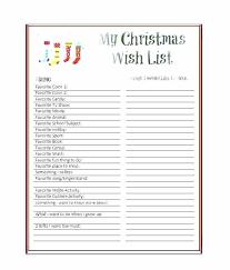 Printable Christmas Gift List Template Free Printable Letter To Template Cute Wish List Medium