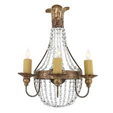 iron crystal sconce