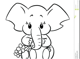 Free Elephant Coloring Pages Cute Baby Elephant Coloring Page