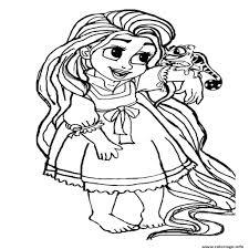 Coloriage Bebe Raiponce Princesse Disney Cute Dessin Avec B B Disney Coloriage L