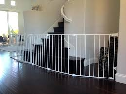 Baby Gates Extra Wide White Section Gate For Bottom Of Stairs ...