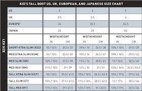 Kids Ski Boot Size Chart Mm 34 Organized Boot Conversion Size Chart