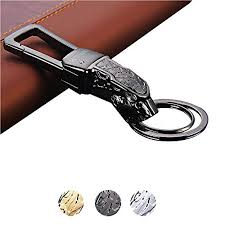 alloy keychain key chain with metal jaguar head heavy duty car keychain for men