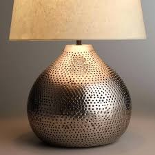 hammered metal table lamp s rupert brushed steel hammered metal table lamp