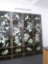antique chinese mother of pearl 4 panel