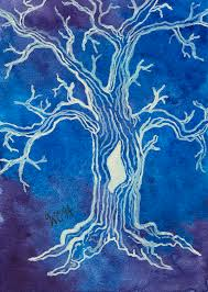 Sacred White Tree Painting by Wesley Hicks