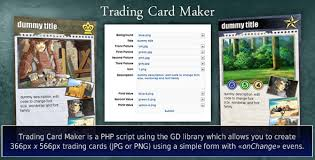 free trading card template trading card maker by jdeep6 codecanyon