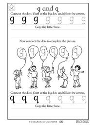 Lower Case Letter Practice Sheet Kindergarten Preschool Reading Writing Worksheets Lowercase G And