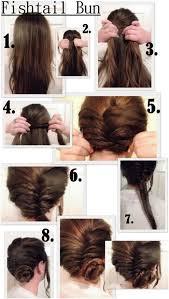 easy bun hairstyles for summers fishtail bun tutorial