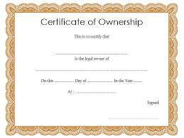 Certificate Of Ownership Template Best 10 Templates