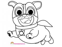 Puppy Dog Pals Coloring Pages Disney S Pal Bingo And Rolly Page